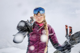 Icebreaker Wmns Helix LS Zip Fraser Peaks Pop- Pink HTHR/St/PP  -Small