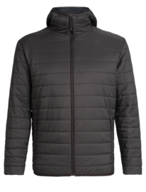 Icebreaker Mens Hyperia Hooded Jacket/Charred -Medium