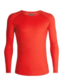 Icebreaker Mens BODYFITZONE 150 Zone LS Crewe / CHILI RED - S-M-L-XL