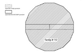 MOOSECAMP Bisonyl Zeltboden für Tentipi 15
