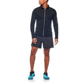 Icebreaker Mens Tracer LS Zip / Black/Monsoon - Large