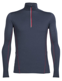 Icebreaker 	Mens Factor LS Half Zip Stealth/Stealth/Oxblood -XXLarge