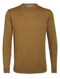 Icebreaker Mens Shearer Crewe Sweater / Saffron Hthr - Large