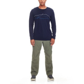 Icebreaker Mens Tech Lite LS Crewe Tough Midnight Navy - Large