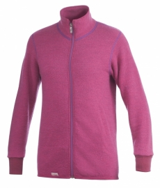 Woolpower Color Collection Full Zip Jacket 400 cerise - XS-S-M-L-XL-XXL