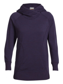Icebreaker Wmns RealFLEECE  Dia Pullover Hoody Burgundy Hth - XSmall