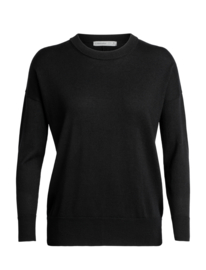 Icebreaker Women Shearer Crewe Sweater / Black - Small