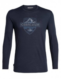 Icebreaker Mens Spector LS Crewe / Midnight Navy - Medium