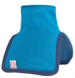 WOOLPOWER Kids Mock Turtle Neck - 200 - blauw-groen