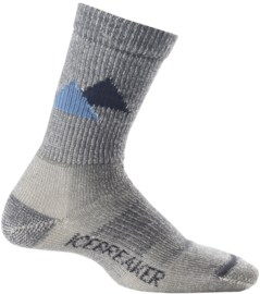 Icebreaker Boys Socks Hike Lite Crew Twister/Oil  S (24-26) - M (27-29)