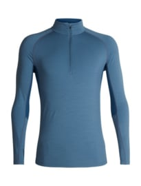 Icebreaker 	Mens 200 Zone LS Half Zip /  GRANITE BLUE/PRUSSIAN BLUE -XLarge
