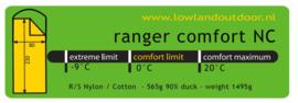 LOWLAND OUTDOOR® Ranger Comfort NC - 230 cm - 1495 gr - 0°C - Nylon/Katoen