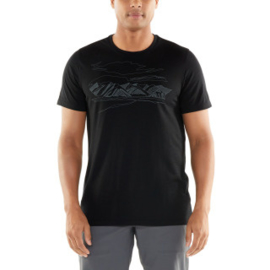 Icebreaker 	Mens Tech Lite SS Crewe /  Coronet Peak / Black -Medium