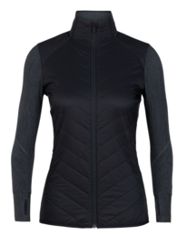 Icebreaker 	Wmns Descender  Hybrid Jacket / Black/Jet Hthr -Small