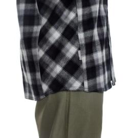 Icebreaker Mens Lodge LS Flannel Shirt /GrH/Black/Plaid -Small