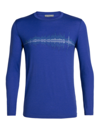 Icebreaker 	Mens Tech Lite LS Crewe Snow Waves / Surf - Medium