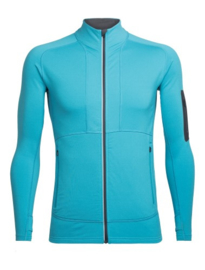 Icebreaker Mens Tracer LS Zip /  Mediterranean/Monsoon -Medium