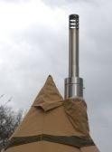 Houtkachel UIL met RVS telescopische pijp
