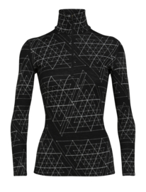 Icebreaker Wmns 250 Vertex LS Half Zip Ice structure / Black - Medium