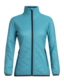 Icebreaker Wmns Hyperia Lite Jacket / Arctic Teal/Midnight Navy - Small