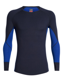Icebreaker HEREN BODYFITZONE™ 260 ZONE LONG SLEEVE CREWE / Midnightnavy/Surf - XXLarge