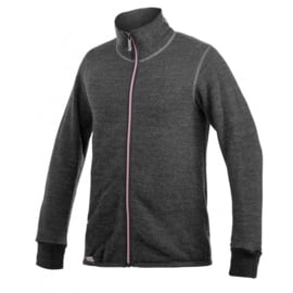Woolpower Color Collection Full Zip Jacket 400 Grijs/Rose - XS-S-M-L-XL