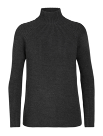 Icebreaker Women Hillock Funnel Neck Sweater / Char Hthr - M-L-XL