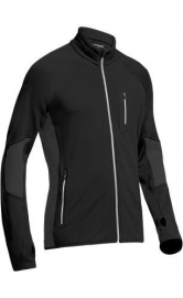 Icebreaker 	Mens 200 Atom LS Zip Black/Monsoon (witte rits) - Large