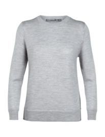 Icebreaker Wmns Muster Crewe Sweater / Steel hthr - Small