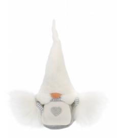 Gnom Viktoria (20 cm) weiße Mütze