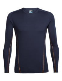 Icebreaker Mens Strike Lite LS Crewe / Midnight Navy/Koi
