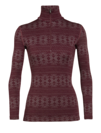 Icebreaker Wmns 250 Vertex LS Half Zip Crystalline / Redwood - Medium
