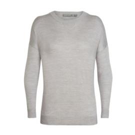 Icebreaker Wmns Nova Sweater Sweatshirt / Blizzard HTHR