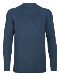 Icebreaker Men Hillock Funnel Neck Sweater / Prussian blue - Medium