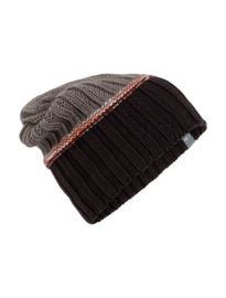 Icebreaker Altitude Slouch Beanie Ebony/Trail Heather - One Size