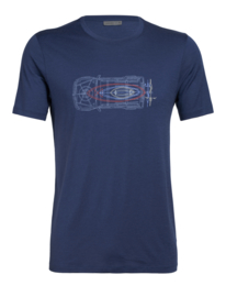 Icebreaker Mens Tech Lite SS Crewe Wireframe Wonder / Estate Blue - S-M-L