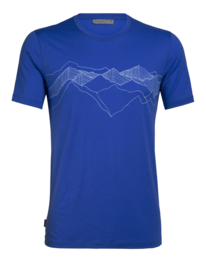 Icebreaker Mens Tech Lite SS Crewe Peak Patterns / Lapis - Small