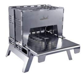 Winnerwell Backpack Stove RVS including Table Board+Bottom Tray