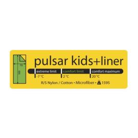LOWLAND OUTDOOR® PULSAR KIDS + LINER - 160X80 CM - 1595GR +2°C