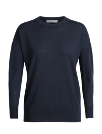 Icebreaker Women Shearer Crewe Sweater / Midnight Navy - Small