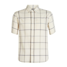 Icebreaker Mens Compass SS Shirt / Snow/TIMBERWOLF//Plaid -M-L
