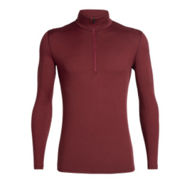 IcebreakerMens 200 Oasis LS Half Zip / Cabernet -Medium