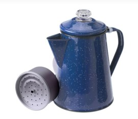 GSI  / 8 Cup  Pioneer  Percolator  /  Blue