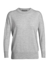 Icebreaker Women Shearer Crewe Sweater / Steel Hthr - Small