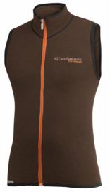 Woolpower Mouwloos Vest 400 - BRUIN - XLarge