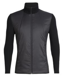 Icebreaker Mens Lumista Hybrid Sweater Jacket/Black-Medium