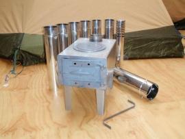 Houtkachel ZALM I met RVS telescopische pijp