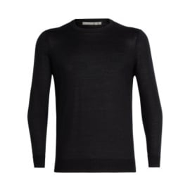 Icebreaker Quailburn Crewe Sweater Black -Medium