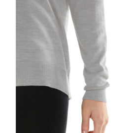 Icebreaker Wmns Nova Sweater Sweatshirt / Blizzard HTHR -Small