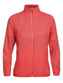 Icebreaker Wmns Rush Windbreaker / POPPY RED/Embossed - Small